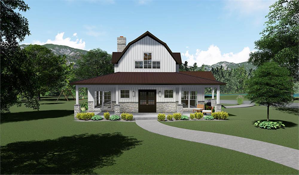 Barn Style home (ThePlanCollection: Plan #193-1102)