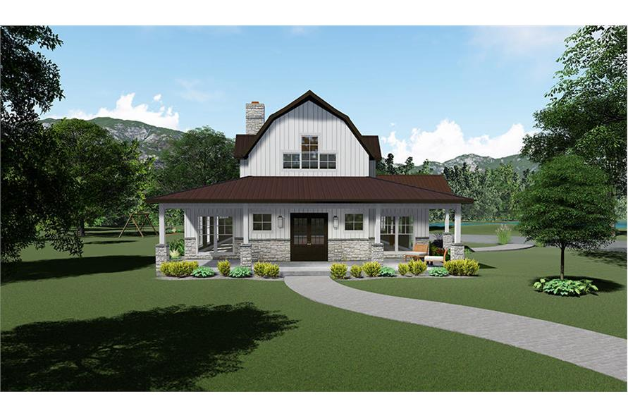 3-Bedroom, 3414 Sq Ft Barn Style Home - Plan #193-1102 - Main Exterior