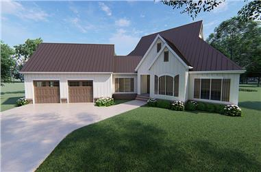 3-Bedroom, 3004 Sq Ft Contemporary Home Plan - 193-1104 - Main Exterior
