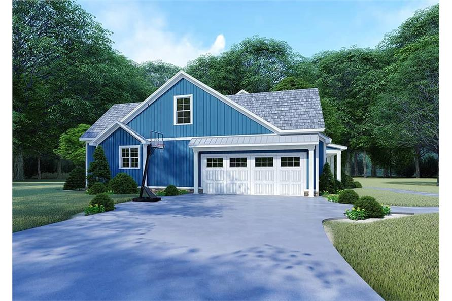 Home Plan Left Elevation of this 4-Bedroom,2220 Sq Ft Plan -193-1106