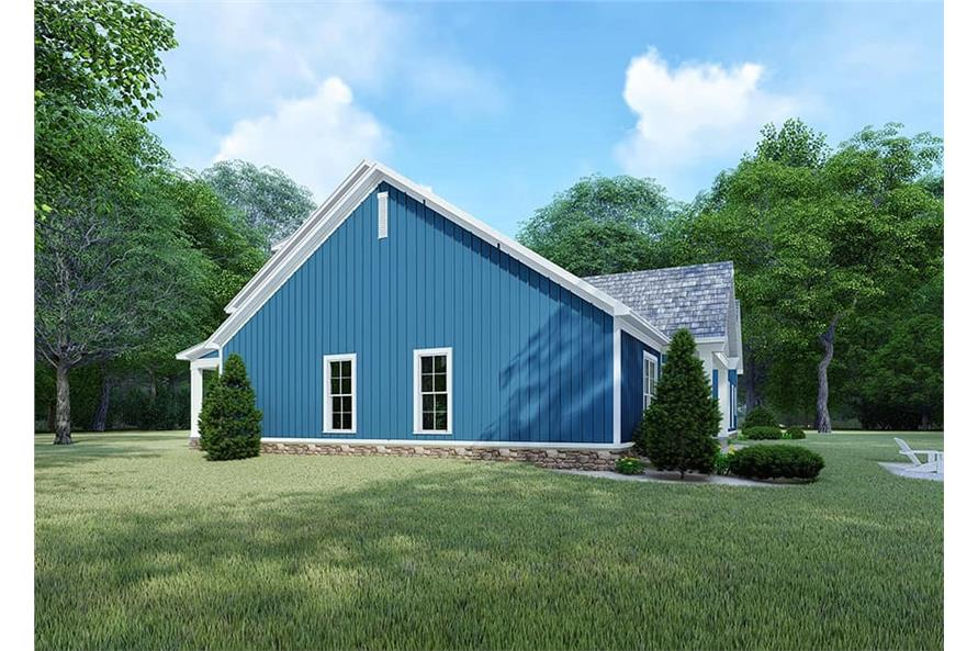 193-1106: Home Plan Right Elevation Blue