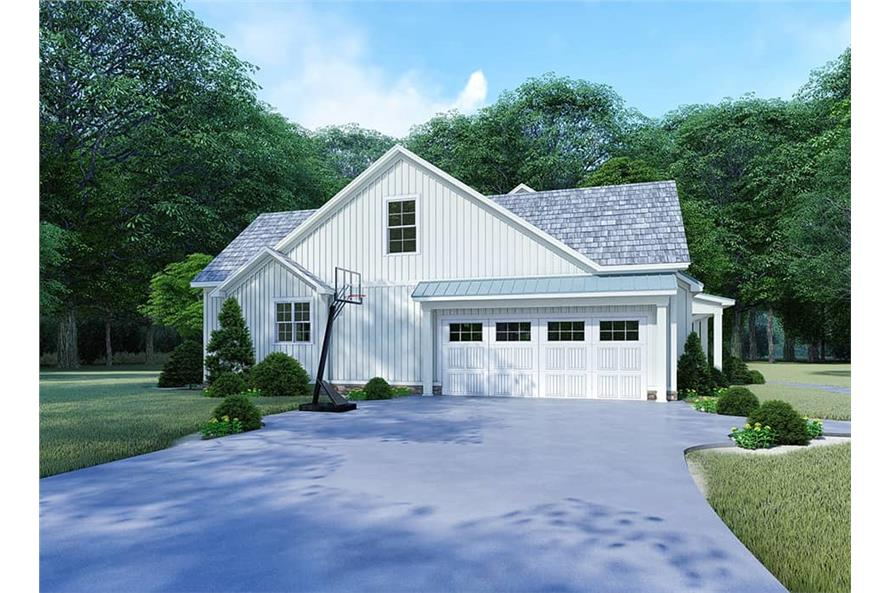 Home Plan Rendering of this 4-Bedroom,2220 Sq Ft Plan -2220