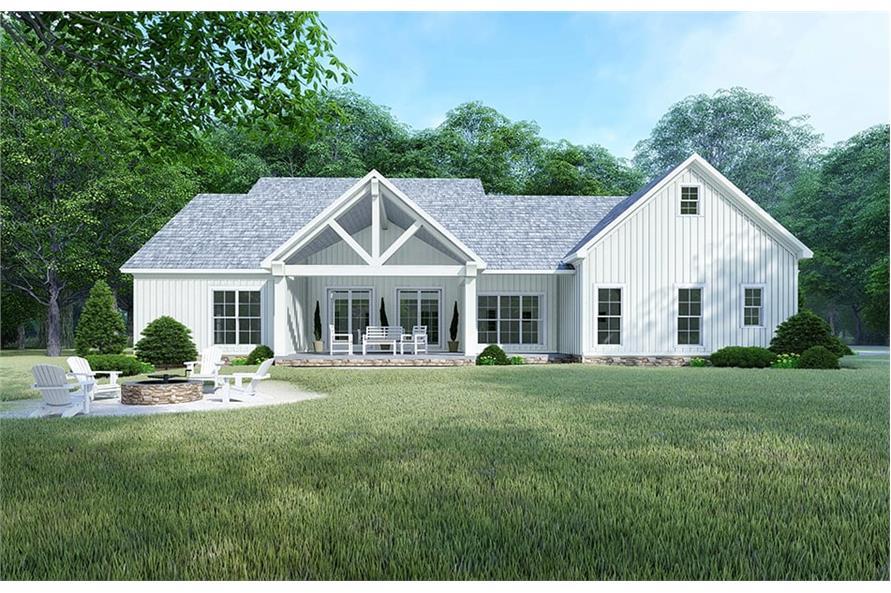Home Plan Rendering of this 4-Bedroom,2220 Sq Ft Plan -193-1106