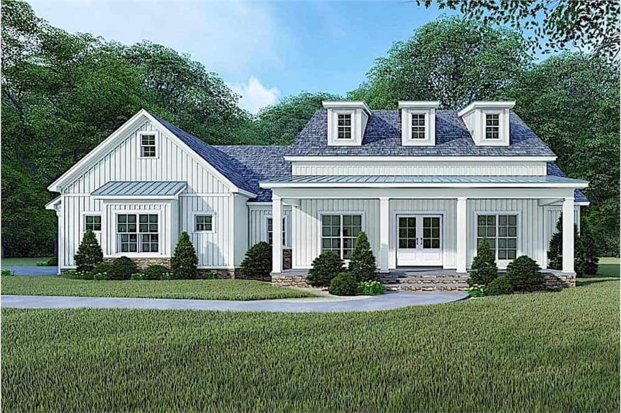 193-1106: Home Plan Rendering-Front View