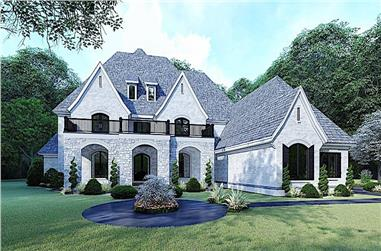5-Bedroom, 5615 Sq Ft Acadian Home Plan - 193-1107 - Main Exterior