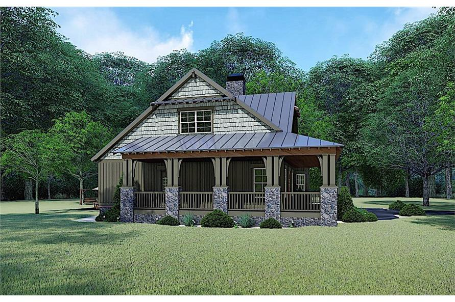 Side View of this 3-Bedroom,1905 Sq Ft Plan -1905