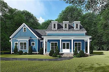 3-Bedroom, 2031 Sq Ft Farmhouse House Plan - 193-1109 - Front Exterior