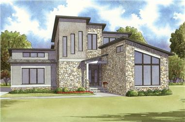 2-Bedroom, 1911 Sq Ft Contemporary Home Plan - 193-1111 - Main Exterior