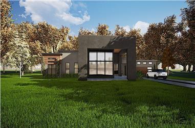 3-Bedroom, 2154 Sq Ft Modern Home - Plan #193-1112 - Main Exterior
