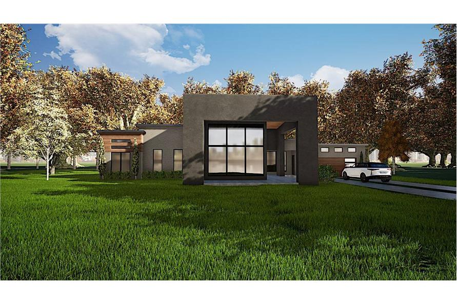 3-Bedroom, 2154 Sq Ft Modern Home - Plan #193-1112 - Main Exterior
