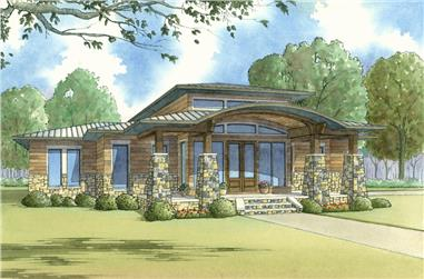 3-Bedroom, 2272 Sq Ft Contemporary House Plan - 193-1114 - Front Exterior