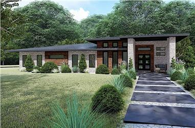3-Bedroom, 2653 Sq Ft Contemporary House - Plan #193-1115 - Front Exterior