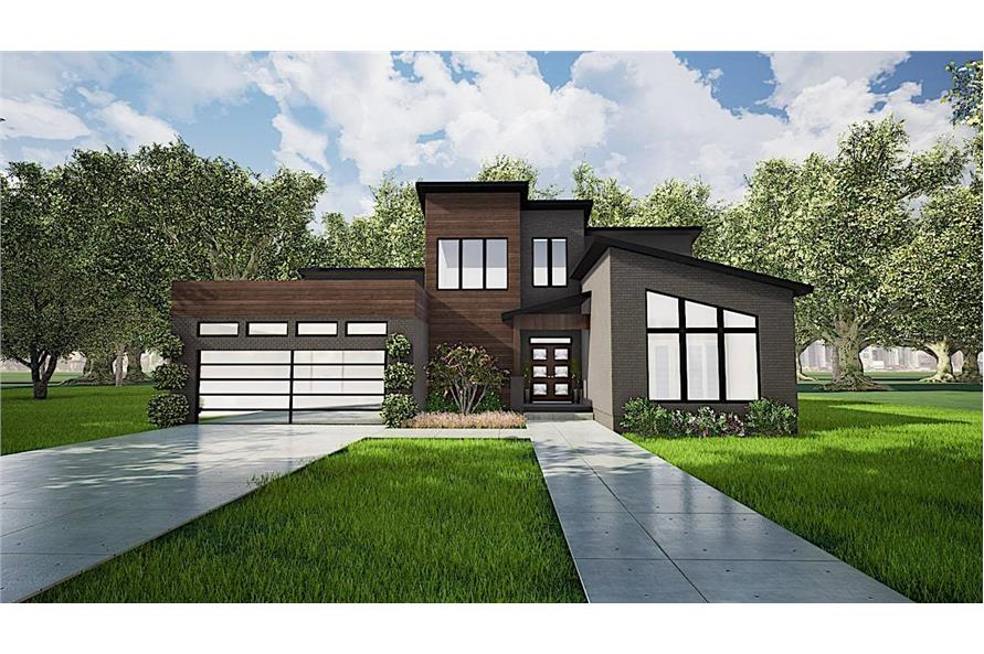 Front View of this 3-Bedroom,2470 Sq Ft Plan -193-1116