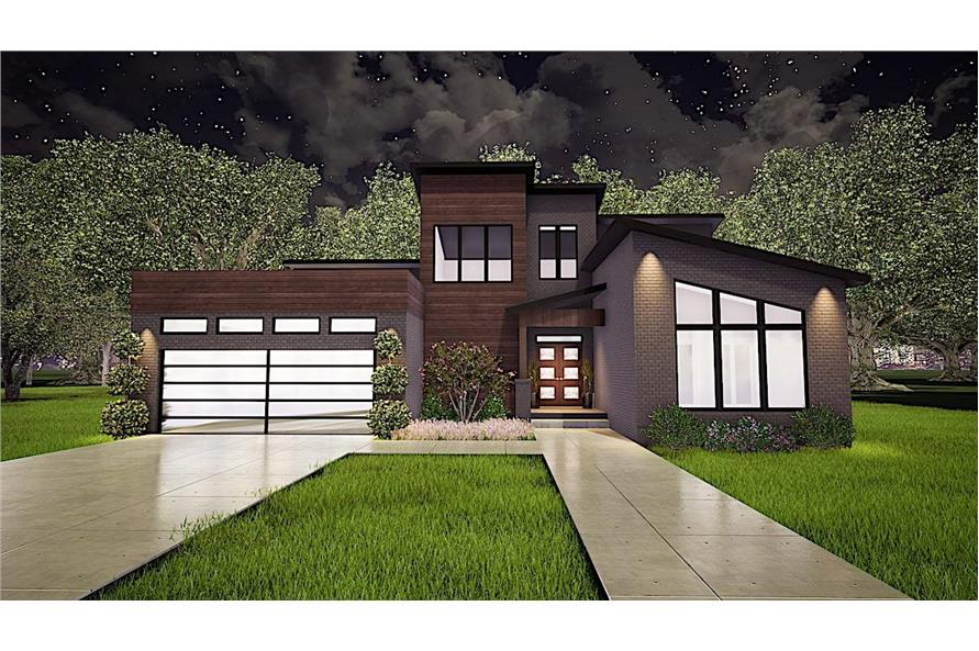3-Bedroom, 2470 Sq Ft Contemporary House - Plan #193-1116 - Front Exterior