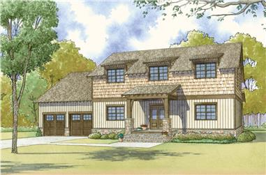 3-Bedroom, 2245 Sq Ft Arts and Crafts House - Plan #193-1118 - Front Exterior