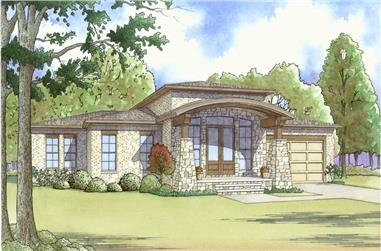 4-Bedroom, 2506 Sq Ft Contemporary House Plan - 193-1119 - Front Exterior