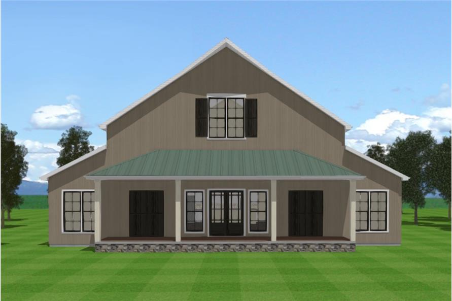 Home Plan Front Elevation of this 3-Bedroom,4072 Sq Ft Plan -193-1120