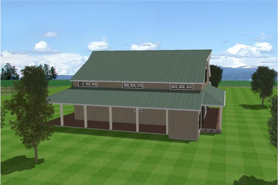 Home Plan Left Elevation of this 3-Bedroom,4072 Sq Ft Plan -193-1120