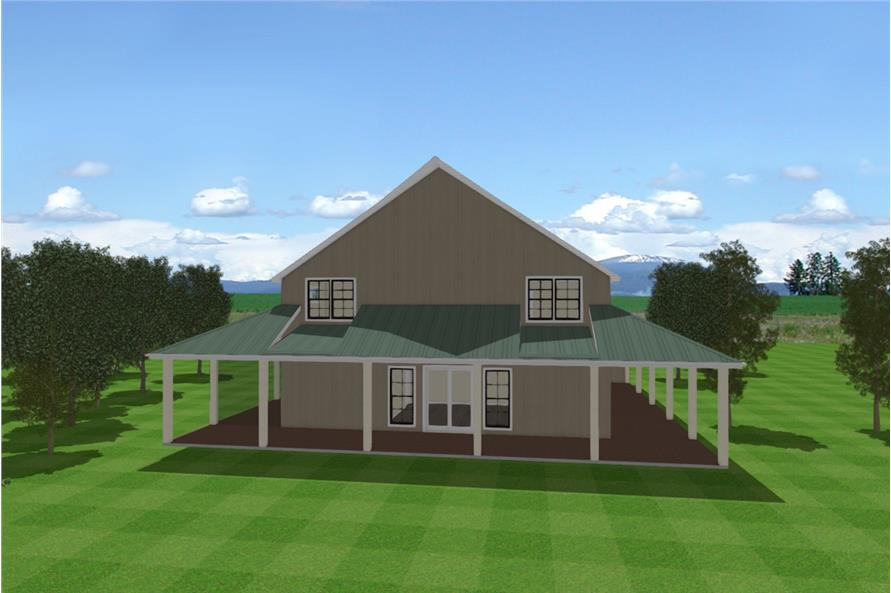 Home Plan Rear Elevation of this 3-Bedroom,4072 Sq Ft Plan -193-1120