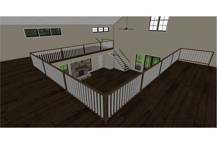 Balcony of this 3-Bedroom,4072 Sq Ft Plan -4072