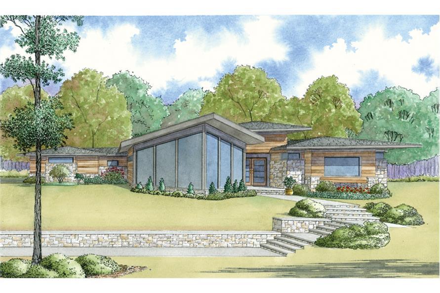 Home Plan Rendering of this 4-Bedroom,3447 Sq Ft Plan -3447