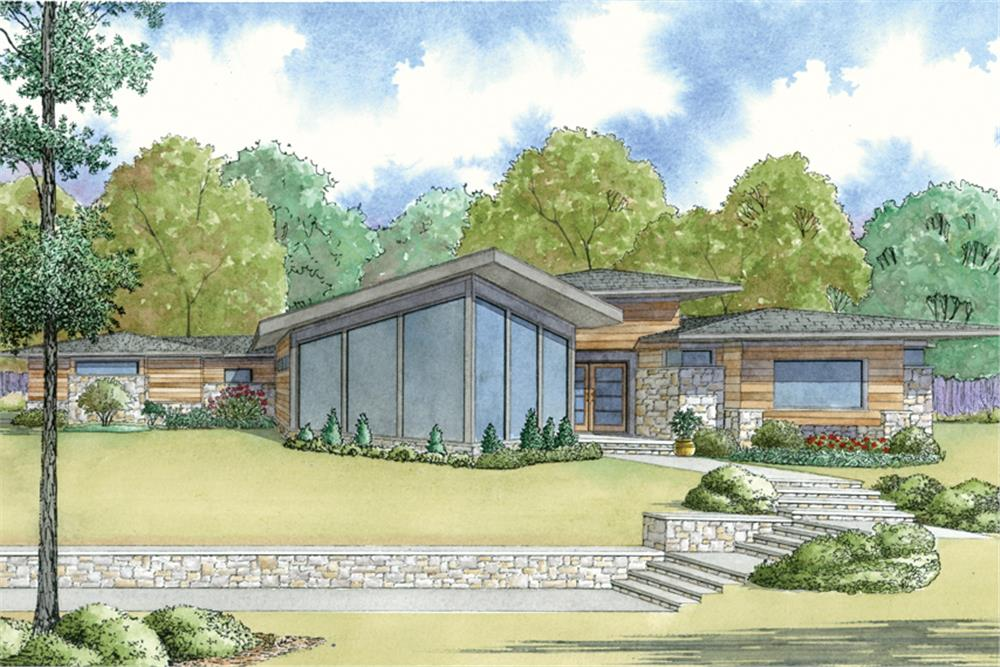 Contemporary home (ThePlanCollection: Plan #193-1121)