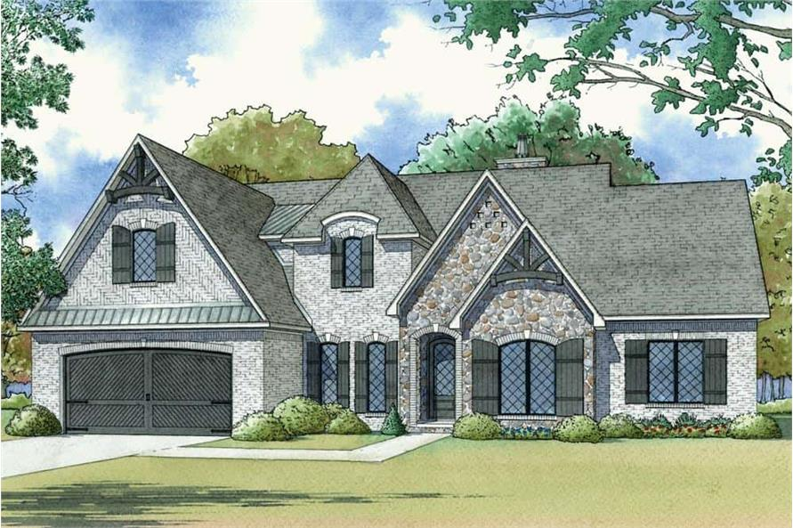 Front View of this 4-Bedroom,2503 Sq Ft Plan -193-1122