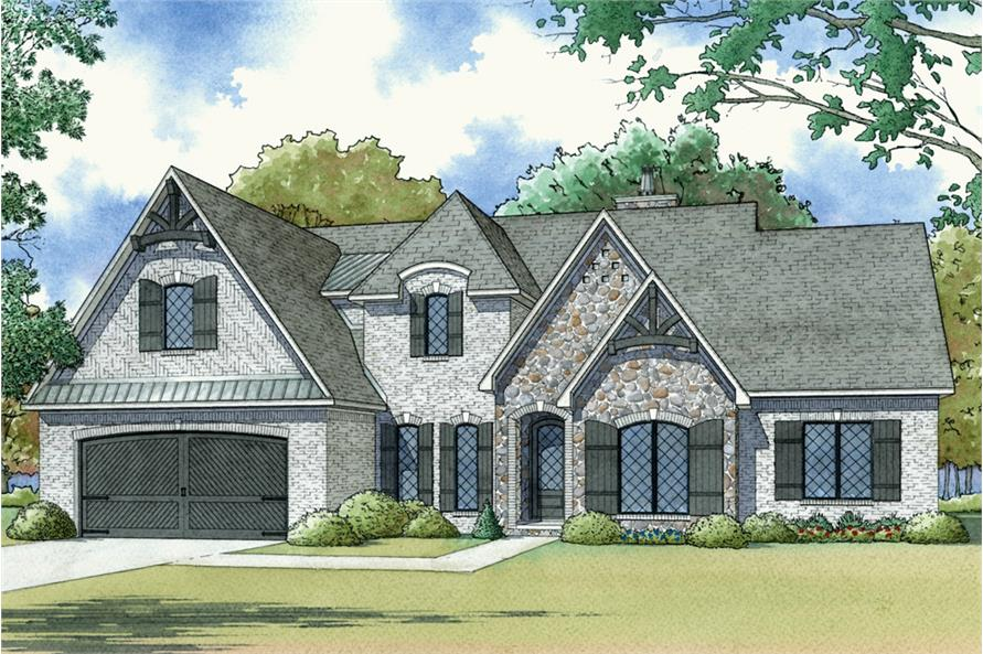 4-Bedroom, 2503 Sq Ft European Home Plan - 193-1122 - Main Exterior