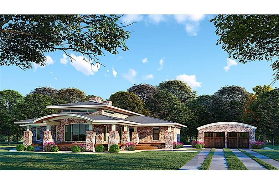 4-Bedroom, 2005 Sq Ft Contemporary House - Plan #193-1123 - Front Exterior