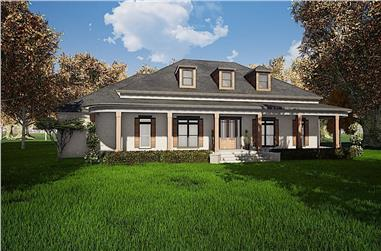 3-Bedroom, 4139 Sq Ft Southern House - Plan #193-1124 - Front Exterior