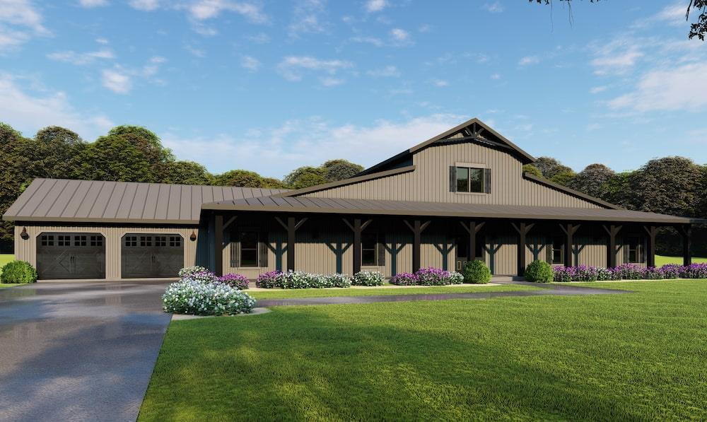 Barn Style home (ThePlanCollection: Plan #193-1126)