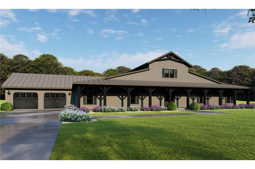 5-Bedroom, 3277 Sq Ft Country House - Plan #193-1126 - Front Exterior