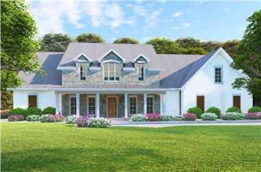6-Bedroom, 3421 Sq Ft Country Home Plan - 193-1127 - Main Exterior