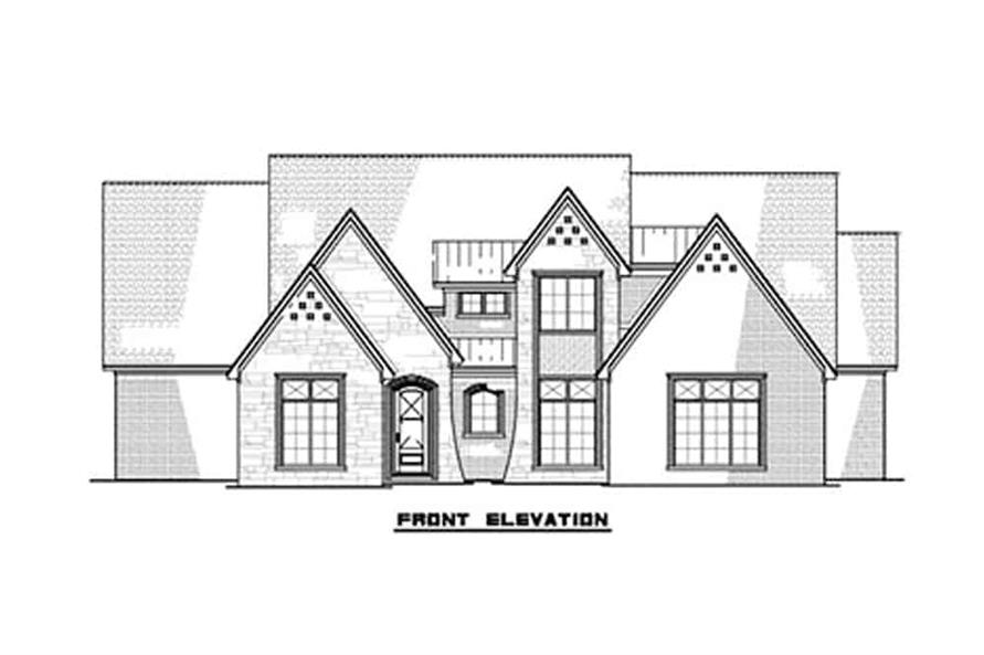 Home Plan Front Elevation of this 3-Bedroom,2641 Sq Ft Plan -193-1131