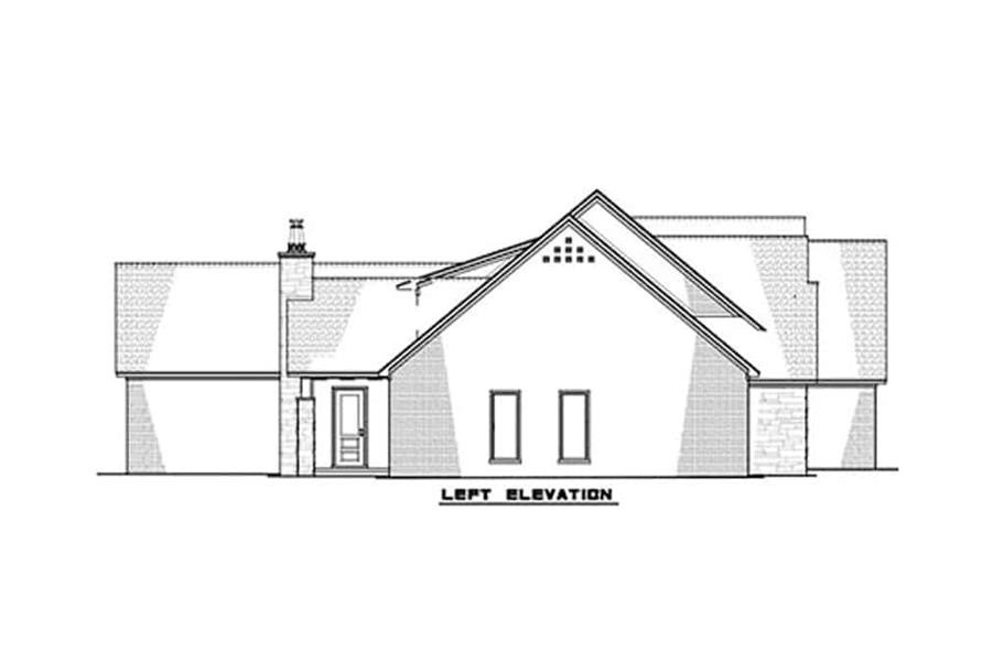 Home Plan Left Elevation of this 3-Bedroom,2641 Sq Ft Plan -193-1131