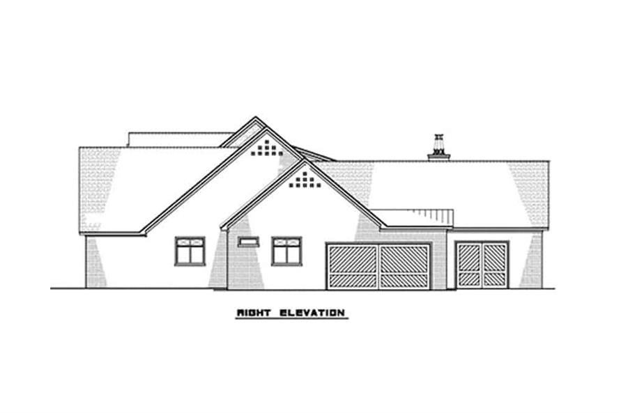 Home Plan Right Elevation of this 3-Bedroom,2641 Sq Ft Plan -193-1131