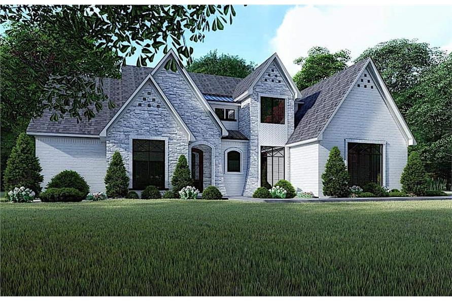 3-Bedroom, 2641 Sq Ft French Home Plan - 193-1131 - Main Exterior