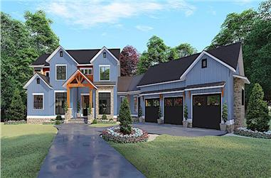 5-Bedroom, 4140 Sq Ft Farmhouse Home - Plan #193-1132 - Main Exterior