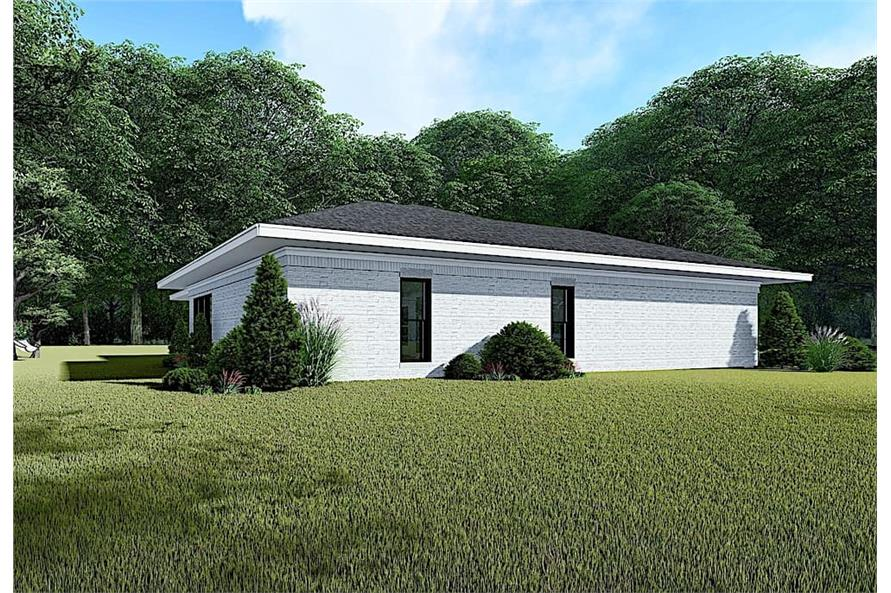 Left View of this 3-Bedroom,1438 Sq Ft Plan -193-1140