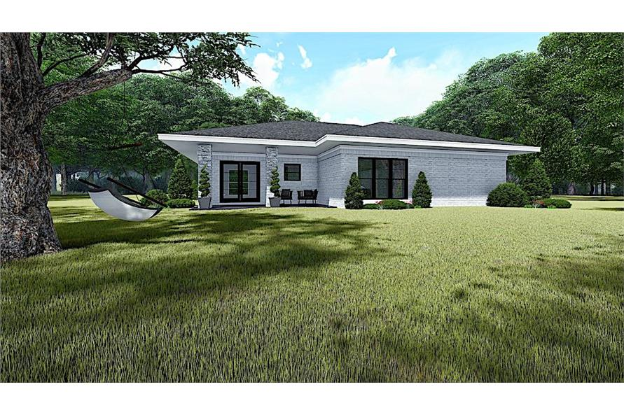 Rear View of this 3-Bedroom,1438 Sq Ft Plan -193-1140