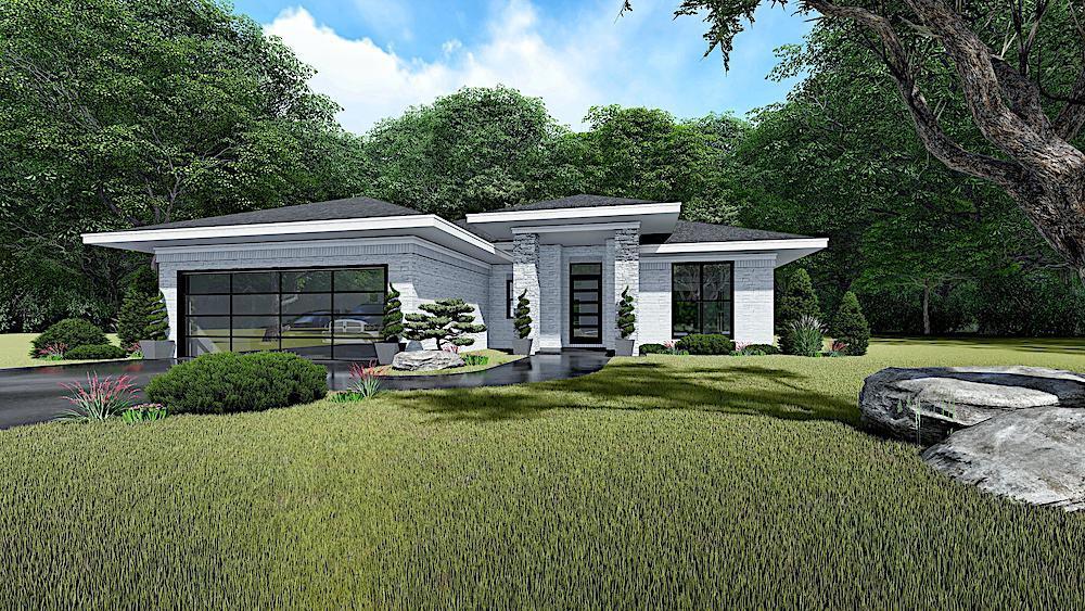 Contemporary home (ThePlanCollection: Plan #193-1140)