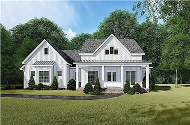 3-Bedroom, 2031 Sq Ft Ranch House - Plan #193-1143 - Front Exterior