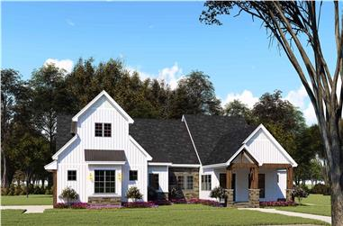 3-Bedroom, 2073 Sq Ft Ranch House - Plan #193-1144 - Front Exterior