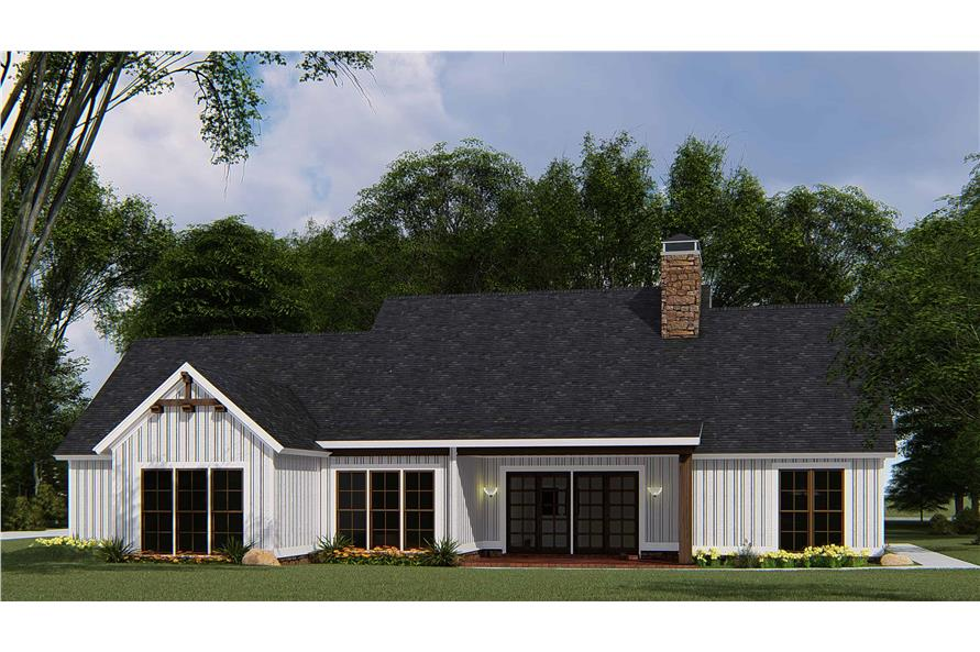 Rear View of this 4-Bedroom,1897 Sq Ft Plan -193-1145