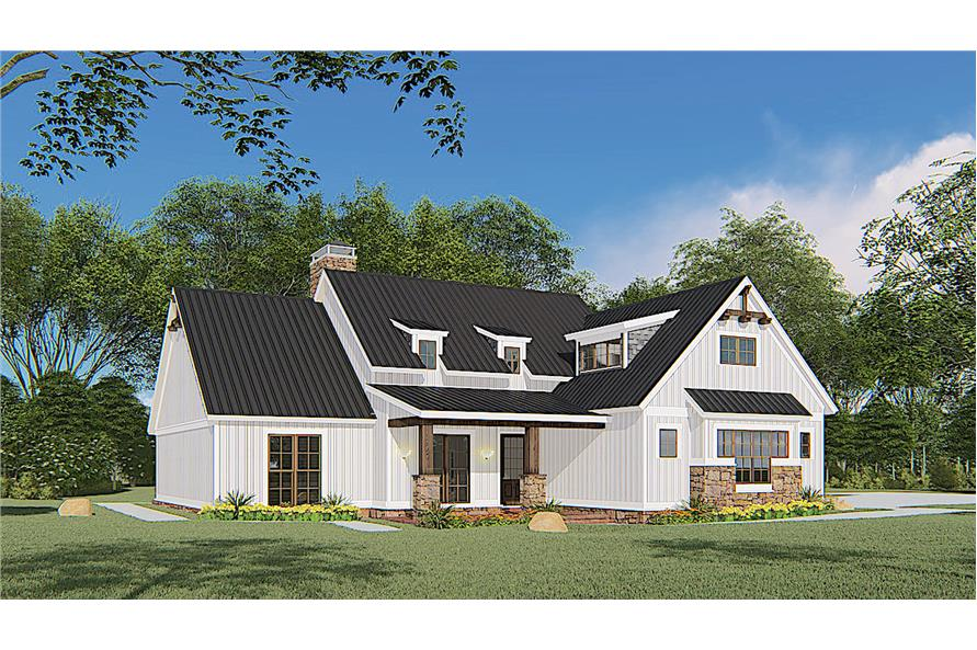 Left View of this 4-Bedroom,1897 Sq Ft Plan -193-1145