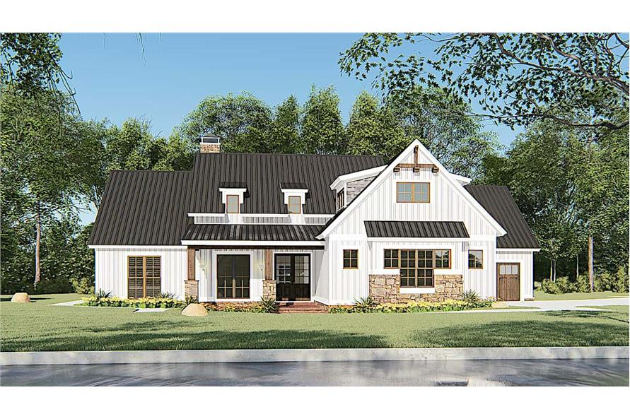 Front View of this 4-Bedroom,1897 Sq Ft Plan -193-1145