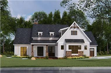 4-Bedroom, 1897 Sq Ft Ranch House Plan - 193-1145 - Front Exterior