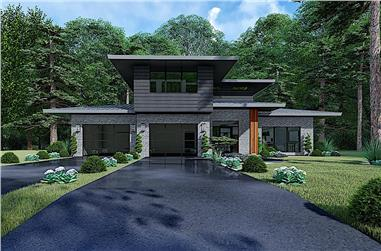 3-Bedroom, 2092 Sq Ft Contemporary Home - Plan #193-1146 - Main Exterior