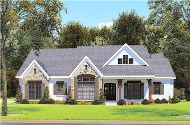 3-Bedroom, 2112 Sq Ft Ranch House - Plan #193-1149 - Front Exterior