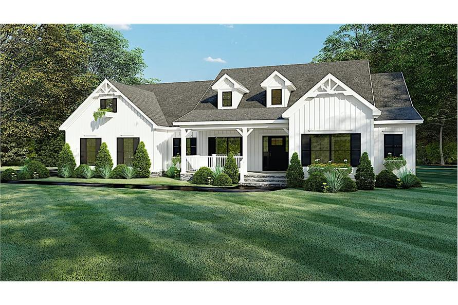 4-Bedroom, 2294 Sq Ft Farmhouse Home - Plan #193-1150 - Main Exterior